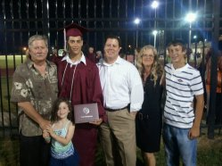 My son Christopher with family at Clear Creek graduation