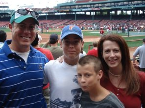 On vacation at Fenway Park