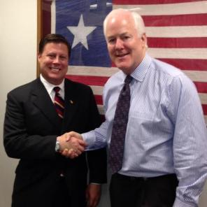 Discussing issues facing League City with Sen. Cornyn